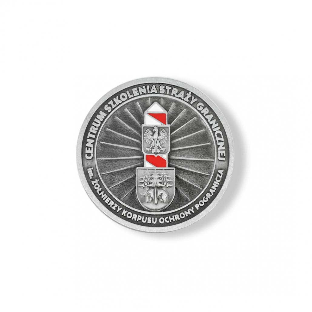 Enameled 3D medal