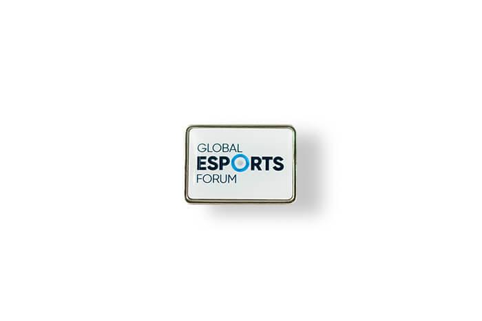 Global E-Sport Forum – Pin mit 3D-Einsatz hergestellt von MCC Metal Casts
