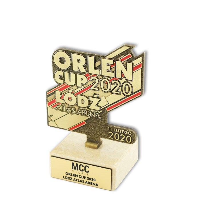 Herstellung von Statuetten für Orlen Cup 2020, Design Firma MCC Metal Casts