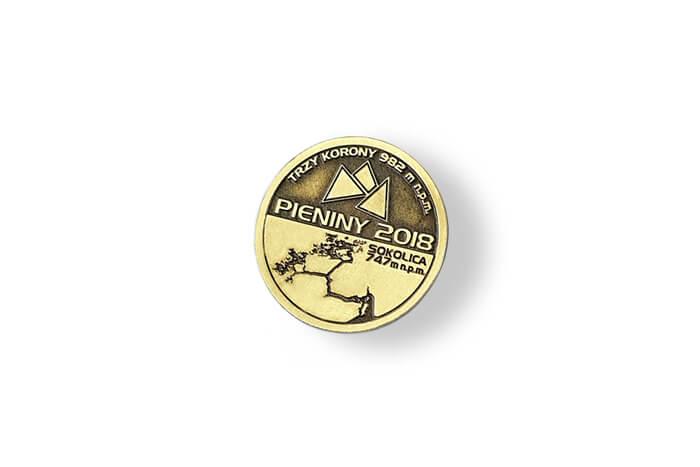 Goldener Pin hergestellt für Pieniny 2018 von MCC Metal Casts