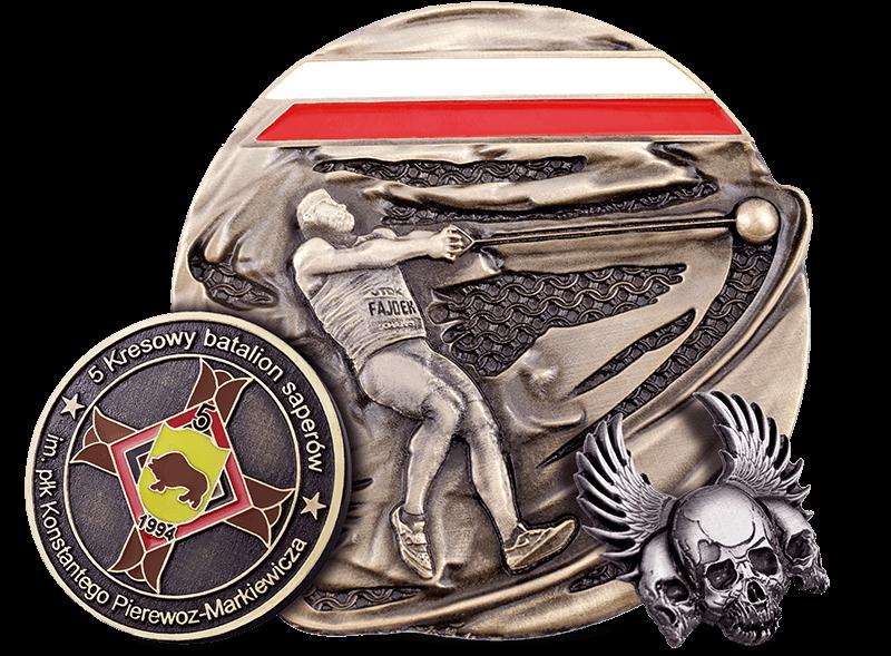 Kostenfreier Projekt einer Medaille, hergestellt auf Bestellung von