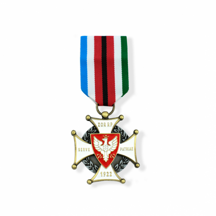 Gedenkorden in Form eines Kreuzes mit einem Motiv Weißen Adlers
