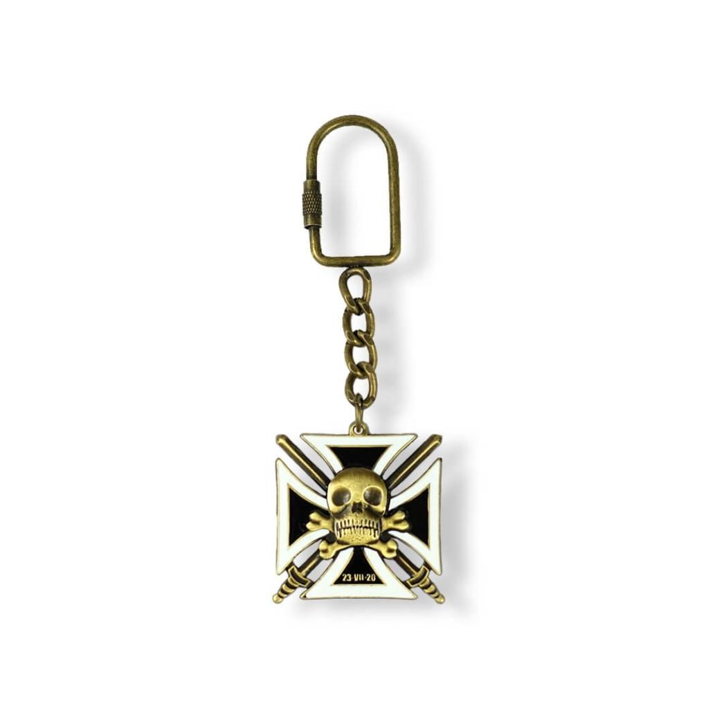 Schädel – Werbe-Schlüsselanhänger hergestellt vom Hersteller der Schlüsselanhänger – Firma MCC Metal Casts