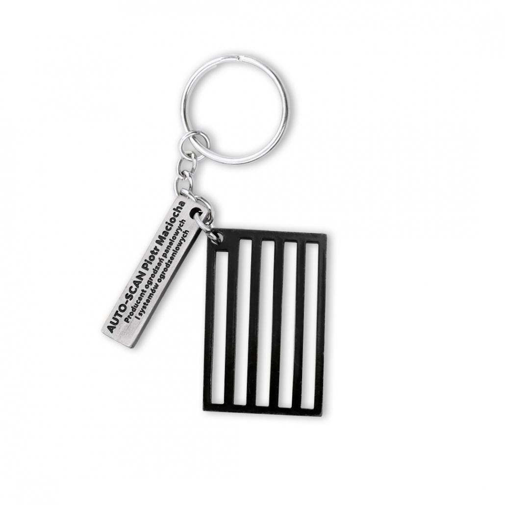 Aus zwei Teilen bestehender Schlüsselanhänger