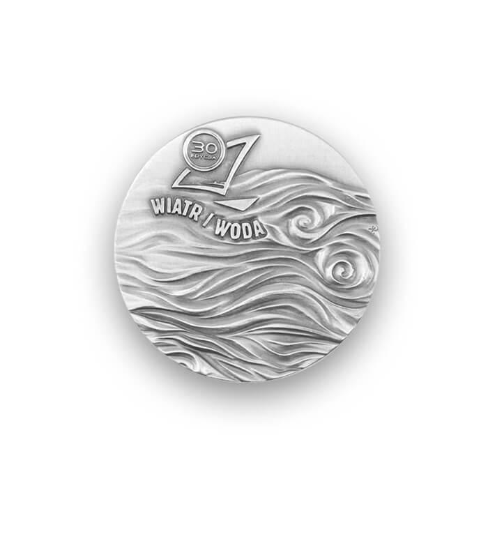 Wind und Wasser – 3D-Medaille [Avers]