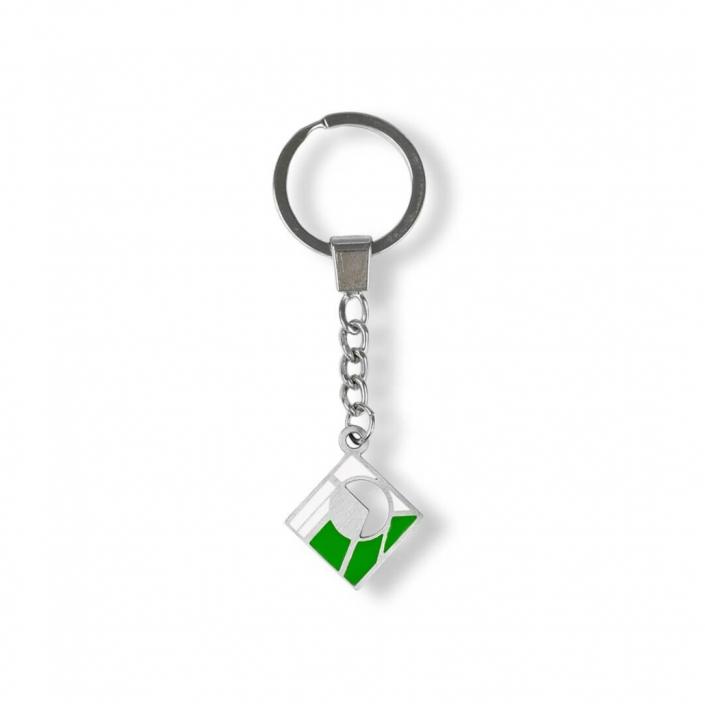 Emaillierter Schlüsselanhänger – zwei Farben hergestellt vom Schlüsselanhänger-Hersteller – Firma MCC Metal Casts