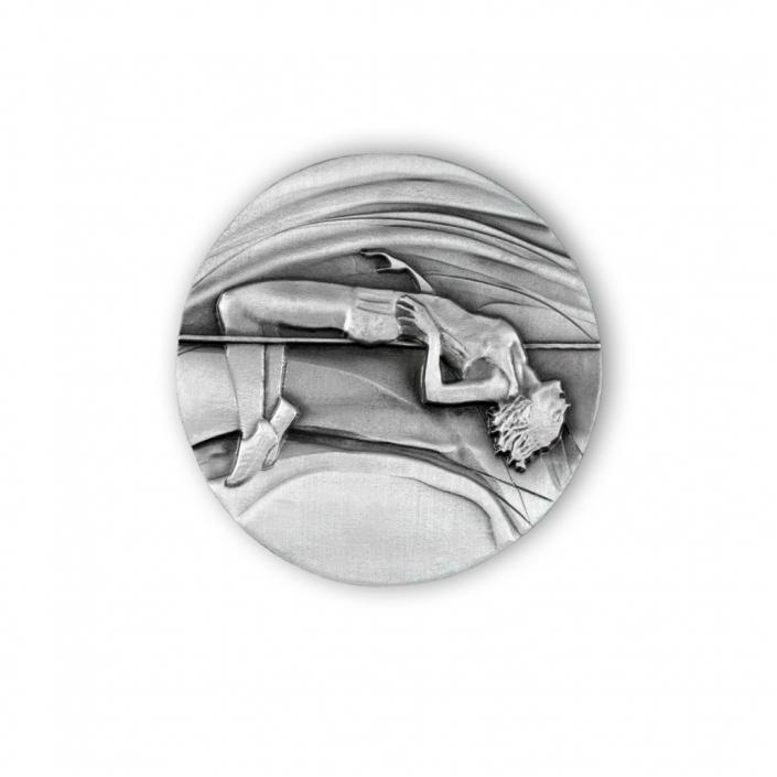 Medaille für den polnischen Leichtathletikverband PZLA, Gedenkmedaille Avers