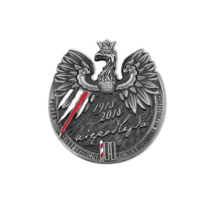 Medaille mit einem Adler für Unabhängigkeit anlässlich des 100. Jahrestages der Unabhängigkeit, aus Metall von MCC Metal Casts