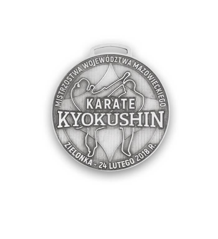 Karate-Medaille hergestellt von MCC Metal Casts