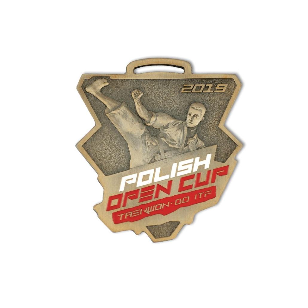 Sportmedaillen für Taekwondo-Wettkämpfe, Polish Open Cup, ITF, auf Bestellung beim Hersteller MCC Metal Casts