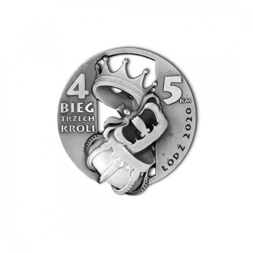 Emaillierte Medaillen für virtuellen Lauf, Drei-Könige-Lauf, Hersteller MCC Metal Casts