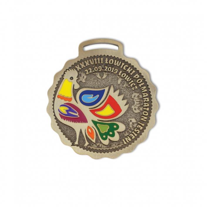 Sportmedaillen für Kinder, Medaillen für Erwachsene, bunter Lowiczer Herbst-Halbmarathon vom Hersteller MCC Metal Casts