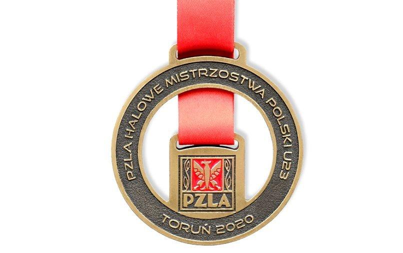 Sportmedaille aus der Gießerei, produziert für PZLA (Polnischer Leichtathletik-Verein)